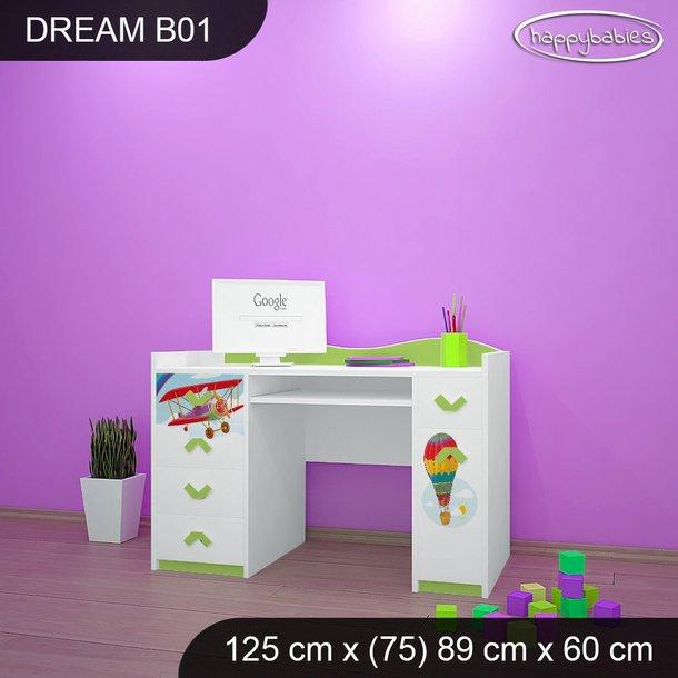 Detský písací stôl PRETEKÁRSKE DRÁHA - TYP 1