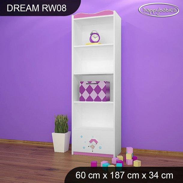 Detský úložný regál - OVEČKA SWEET DREAMS - TYP 8 - VYSOKÝ