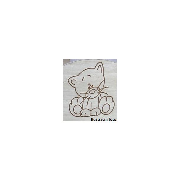 Detská šatníková skriňa s výrezom ŽIRAFA - prírodná