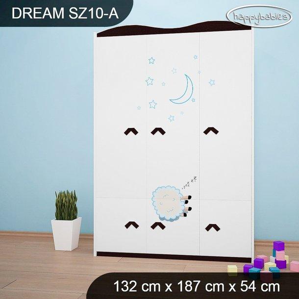 Detská skriňa OVEČKA SWEET DREAMS - TYP 10A