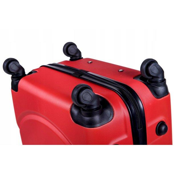 Cestovný kufor MILANO - červený