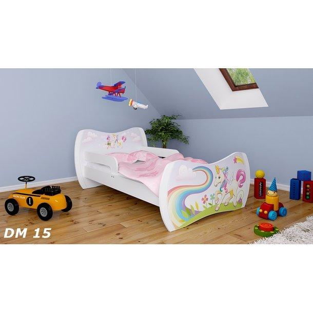 Detská posteľ bez šuplíku 140x70cm Jednorožec A DUHA + matrace ZADARMO!