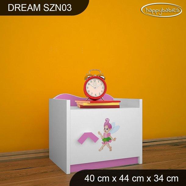 Detský nočný stolík Jednorožec A DUHA - TYP 3