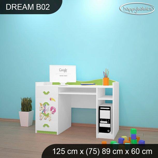 Detský písací stôl Jednorožec A DUHA - TYP 2