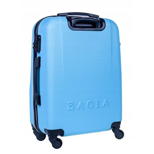 Cestovný kufor MILANO - svetlo modrý