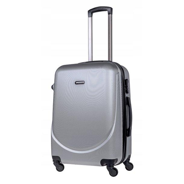 Cestovný kufor MILANO - strieborný