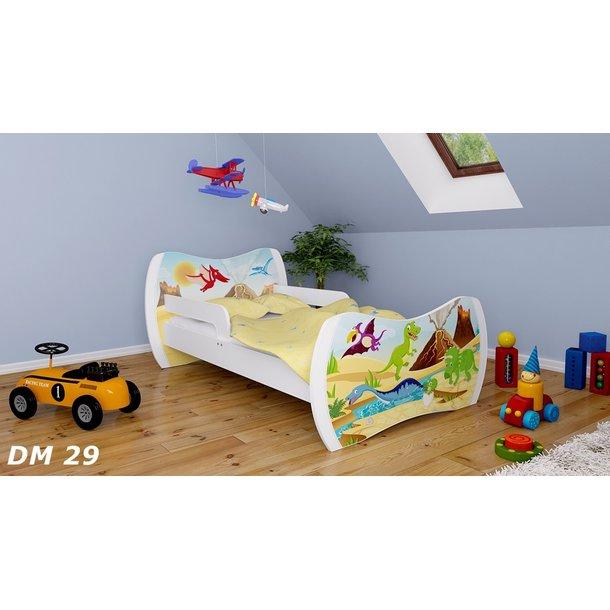 Detská posteľ bez šuplíku 140x70cm DINOSAURI + matrace ZADARMO!