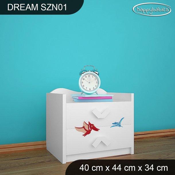 Detský nočný stolík DINOSAURI - TYP 1