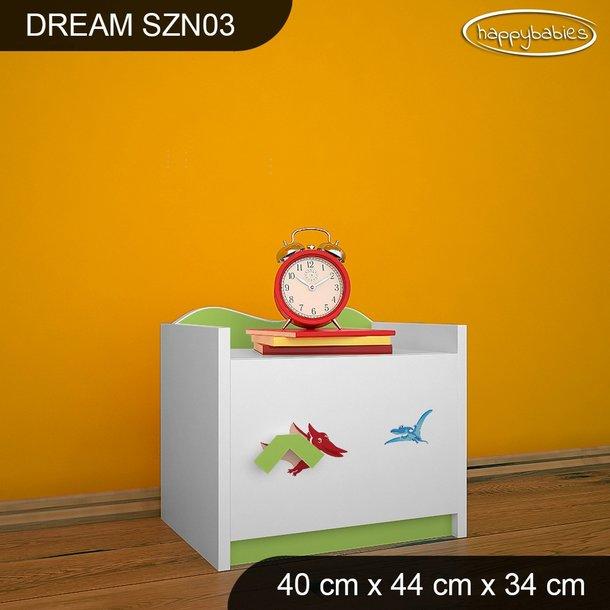 Detský nočný stolík DINOSAURI - TYP 3