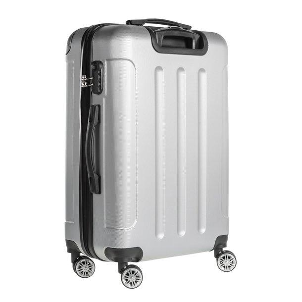 Cestovný kufor BERLIN - strieborný