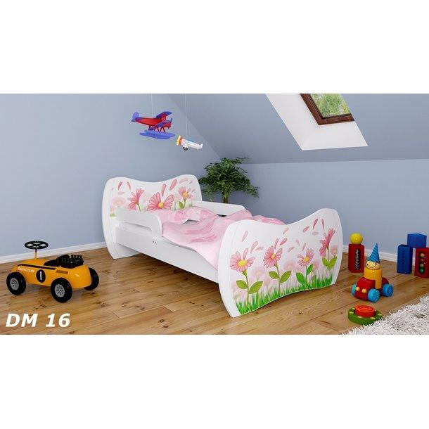 Detská posteľ bez šuplíku 180x90cm kvietočkov + matrace ZADARMO!