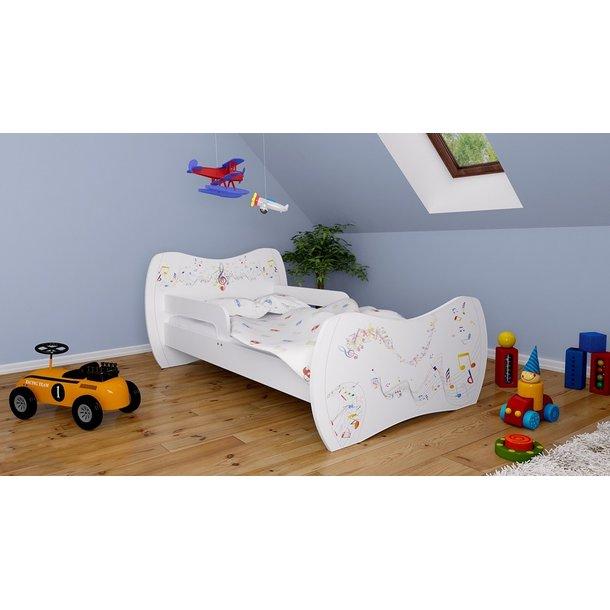 Detská posteľ bez šuplíku 180x90cm NOTIČKY + matrace ZADARMO!
