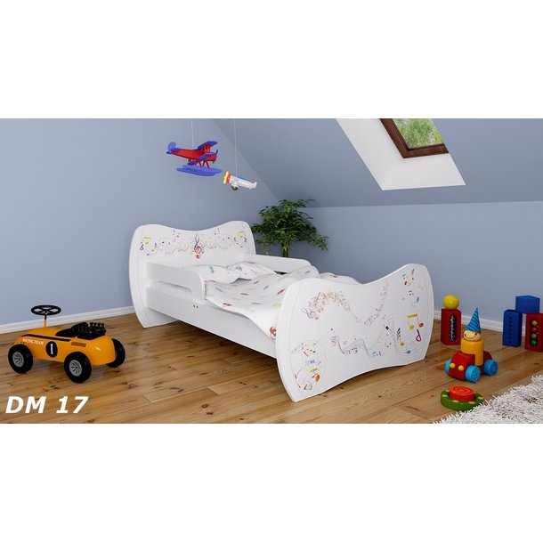 Detská posteľ bez šuplíku 160x80cm NOTIČKY + matrace ZADARMO!