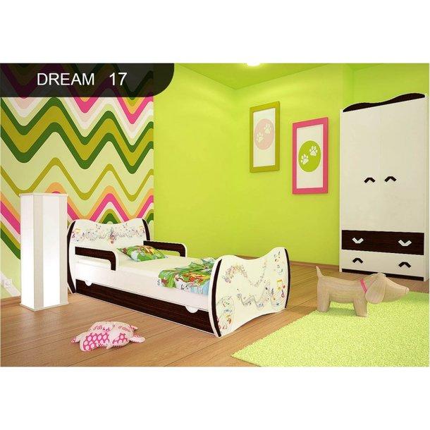 Detská posteľ so zásuvkou 180x90cm NOTIČKY + matrace ZADARMO!