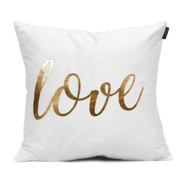 Vankúš GOLD LOVE - nápis love