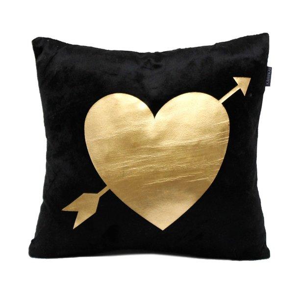 Vankúš GOLD DREAM - srdce sa šípom