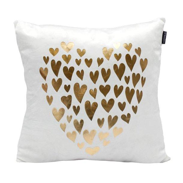 Vankúš GOLD LOVE - srdce