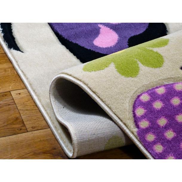 Detský koberec MOTÝLCI krémový