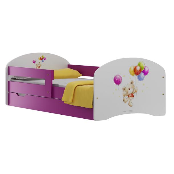 Detská posteľ so zásuvkami MÉĎA S BALÓNIKY 180x90 cm
