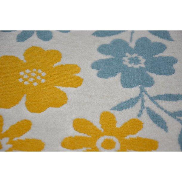 Detský kusový koberec KVETY - krémový