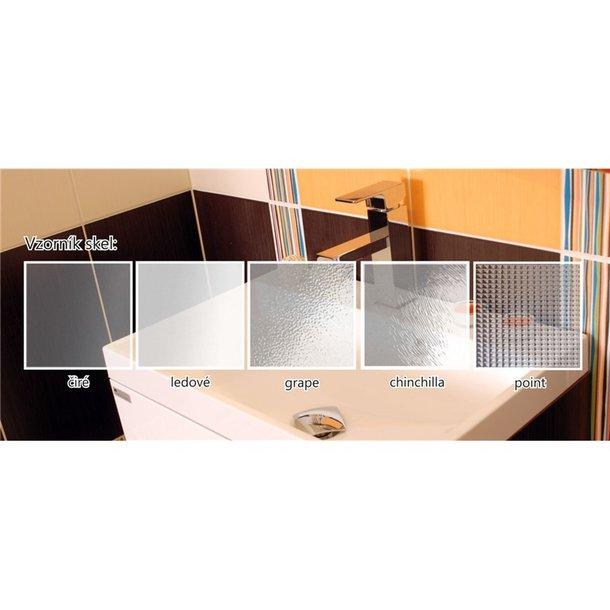 Sprchovací kút, Mistic, štvorec, 100 cm, chróm ALU, sklo Číre, dvere pivotové