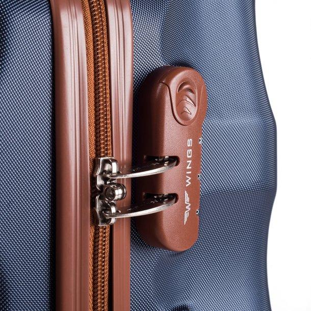 Moderné cestovné kufre ARROW - vínové