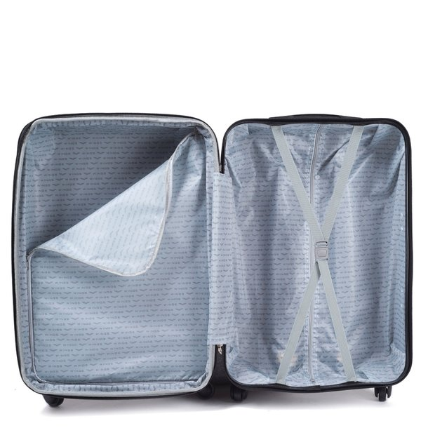 Moderné cestovné kufre Cáder - metalické modré