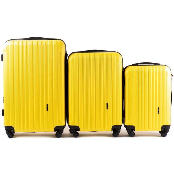 Moderné cestovné kufre FLAMENGO - žlté