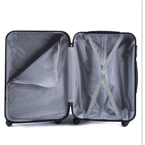 Moderné cestovné kufre PAVO - strieborné