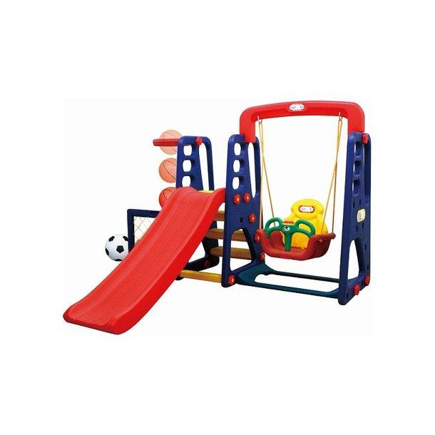Detské ihrisko MAX - šmykľavka - hojdačka - futbalová bránka - basketbalový kôš