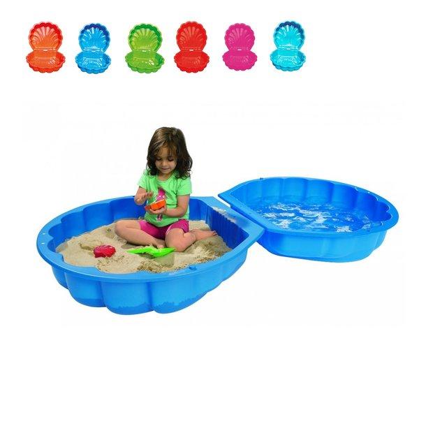 Detské pieskovisko a bazén 2v1 MUŠĽA - uzatvárateľné - 155x86x20 cm
