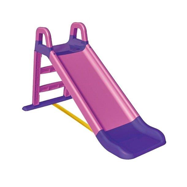 Detská šmýkačka MAX - 124x39x72 cm - ružovo / fialová