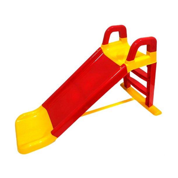 Detská šmýkačka MAX - 124x39x72 cm - červeno / žltá