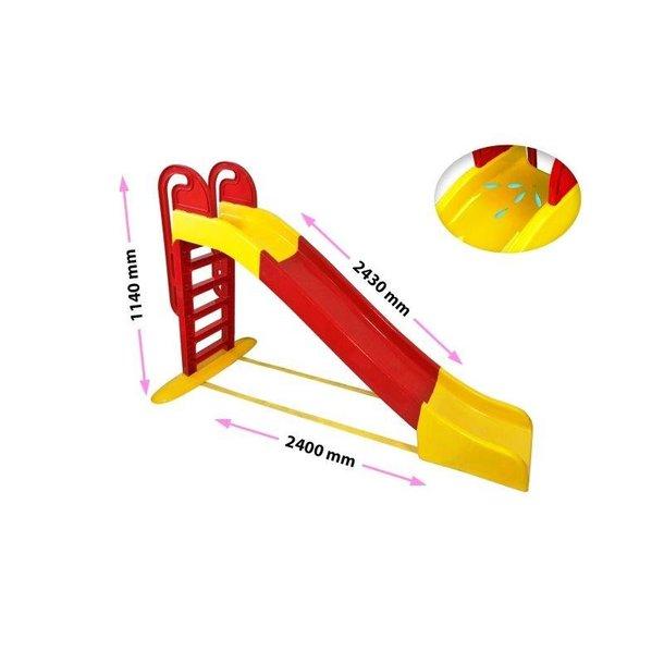 Detská šmýkačka MAX - 240x114x243 cm - červeno / žltá