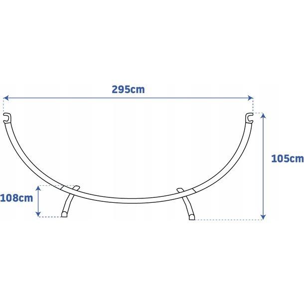 Stojan na hojdacia sieť MAX 295x105 cm - nosnosť 150 kg