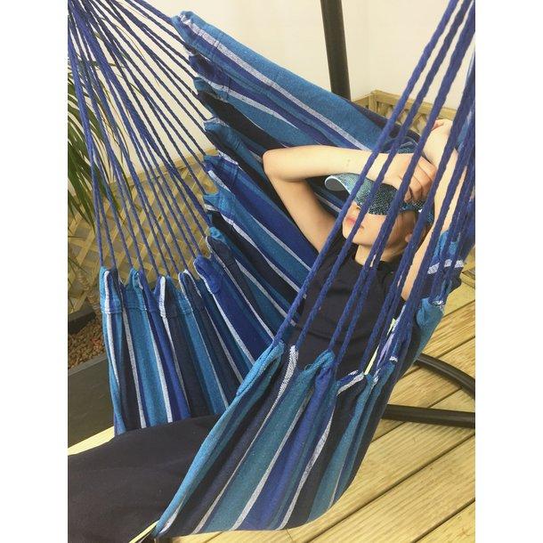 Závesné hojdacie kreslo KARIBIK 130x100 cm - modré