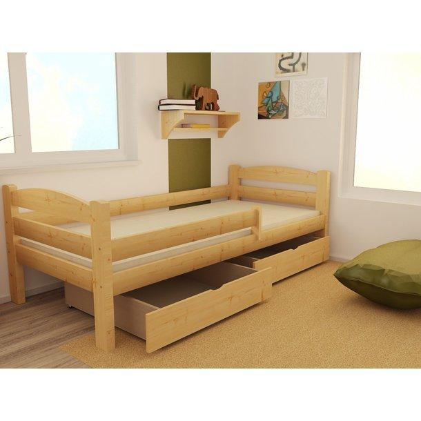 Detská posteľ z masívu 200x90cm bez šuplíku - DP005