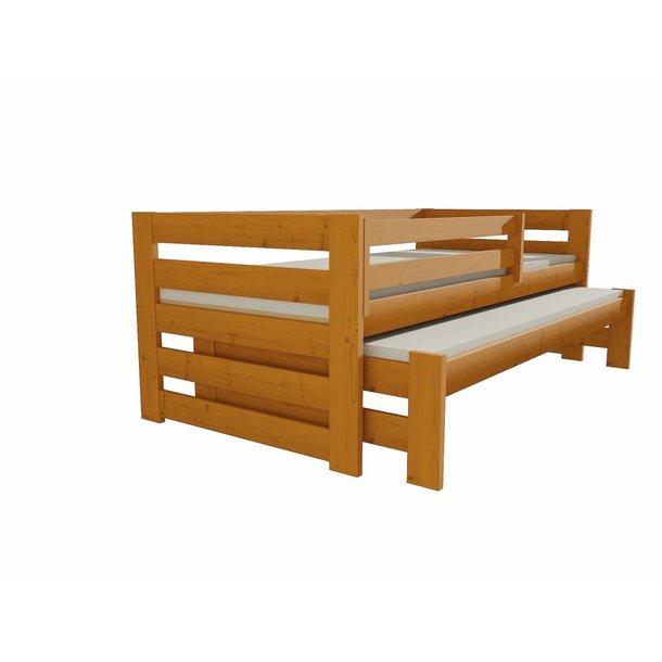 Detská posteľ s výsuvnou prístelkou z MASÍVU 200x90cm so zásuvkou - DPV007