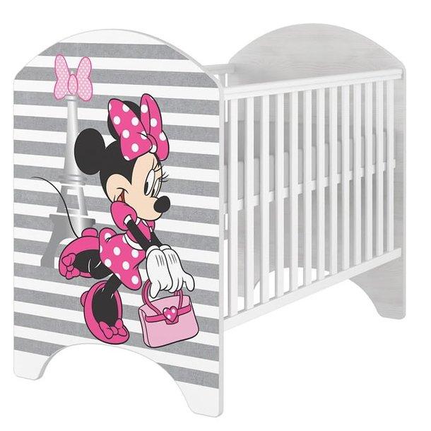 SKLADOM: Detská postieľka Disney - MYŠKA MINNIE PÁSKY