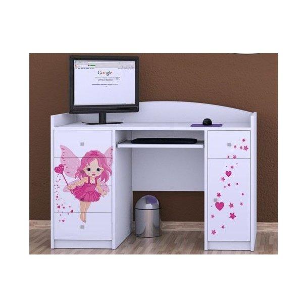SKLADOM: Detský písací stôl VÍLA - TYP 1 - biely