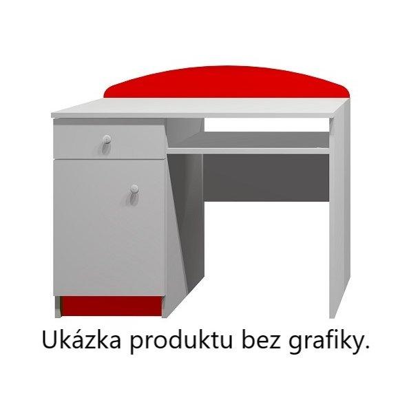 SKLADOM: Písací stôl ČERVENÁ FORMULA - TYP A