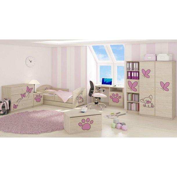 SKLADOM: Detská posteľ s výrezom PSÍK - ružová 160x80 cm + matrac ZADARMO!