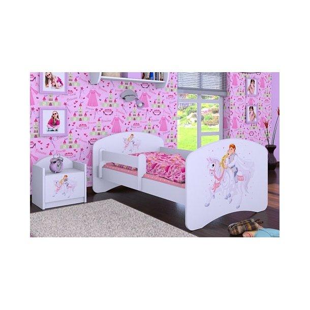 SKLADOM: Detská posteľ bez šuplíku 160x80cm PRINC NA BIELOM KONI - biela