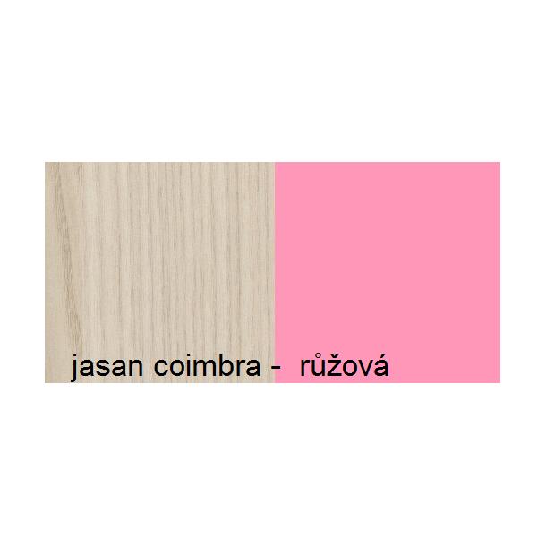 SKLADOM: Komoda APPLE - TYP D - ružová + jaseň coimbra
