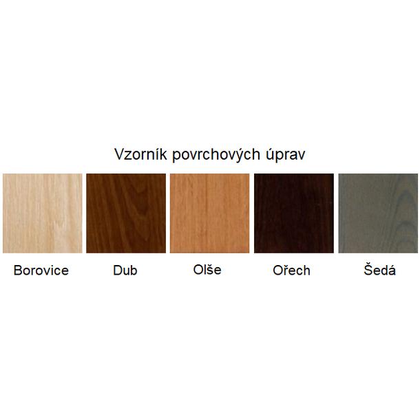 SKLADOM: Posteľ z masívu borovice - jednolôžko 200x100 cm - MAX 128 - bezfarebný lak