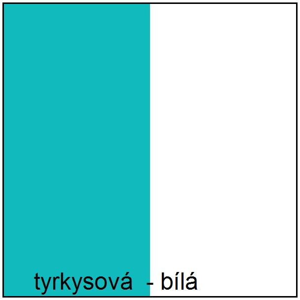 SKLADOM: Police AQUA - TYP A - tyrkysová / biela