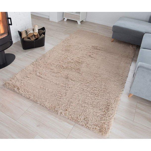 Plyšový koberec TOP - SVETLO BÉŽOVÝ
