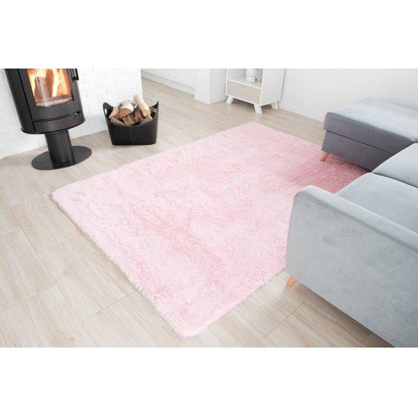 Plyšový koberec TOP - SVETLO RUŽOVÝ