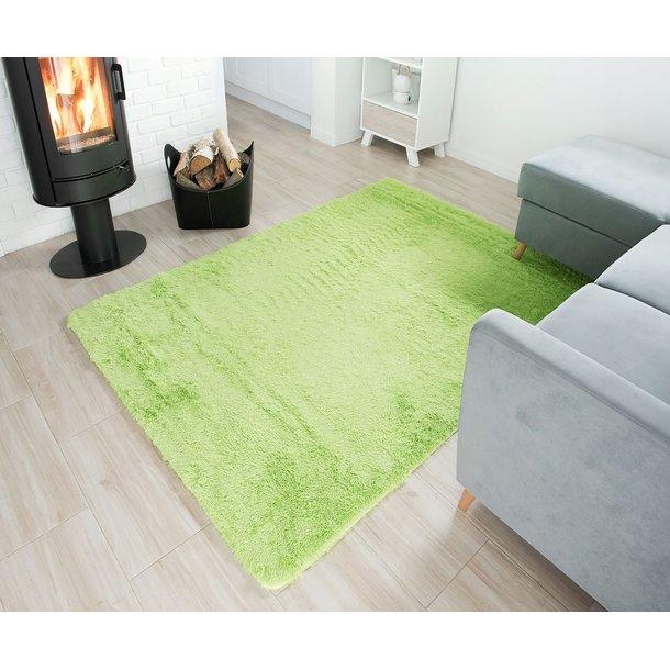 Plyšový koberec TOP - ZELENÝ