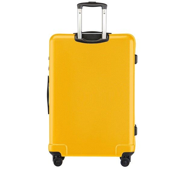 Moderné cestovné kufre PANAMA - žlté - TSA zámok